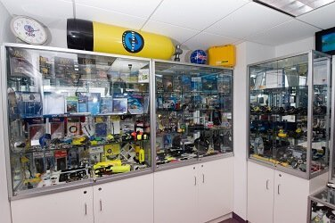Display Cases for SCUBA Equipment